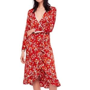 Free People Covent Garden Midi Dress Size 6 NWT
